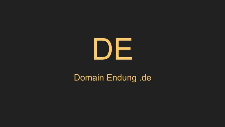 Domain Endung .de
